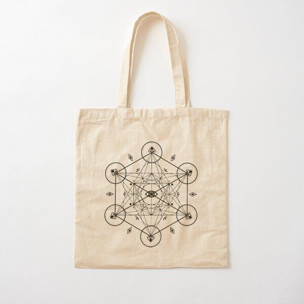 Metatron's Cube Geometry Cotton Tote Bag