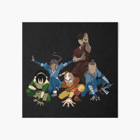 Avatar The Last Airbender Group Art Board Print