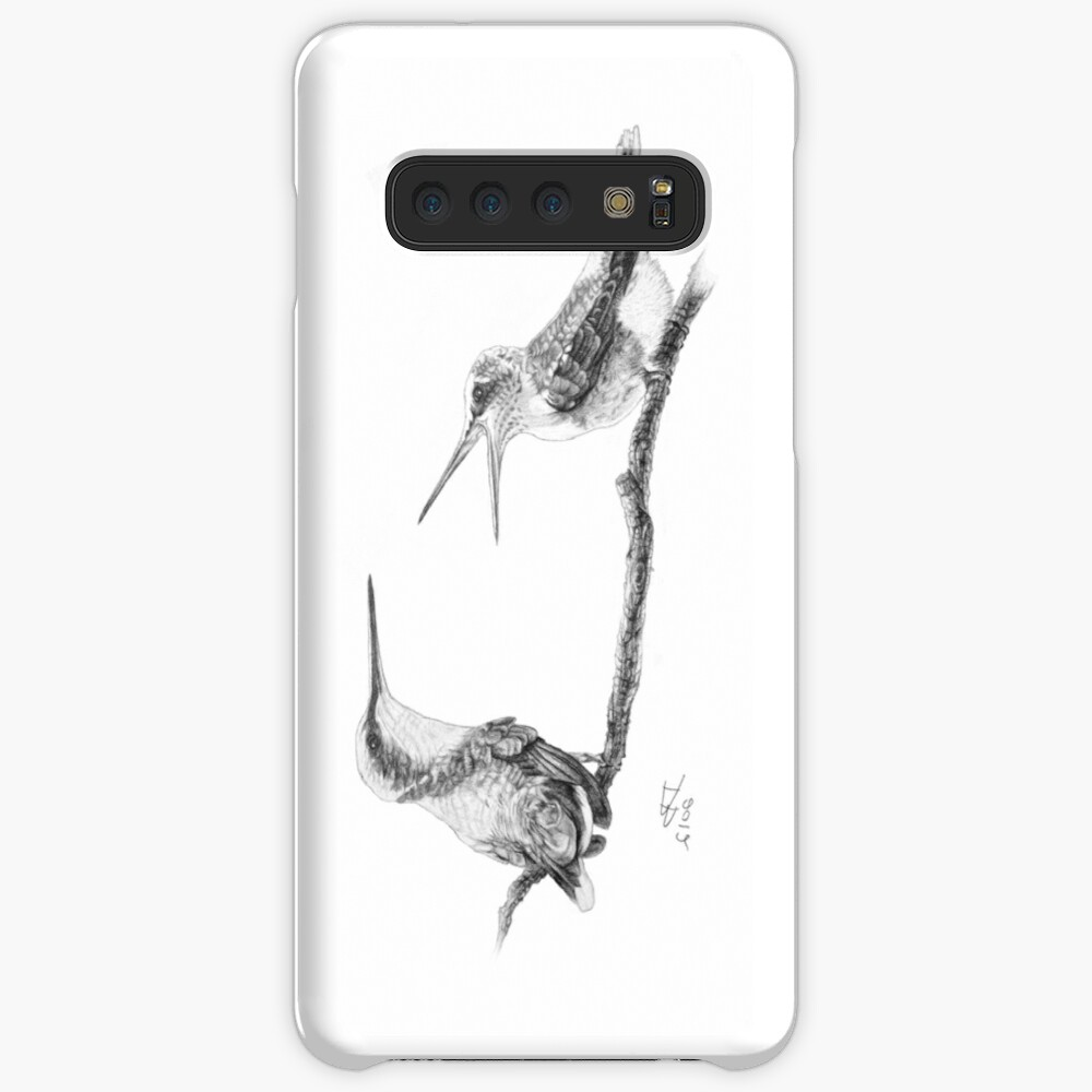 Ruby-Throated Hummingbird: Mother and Chick, 2012, Pencil Samsung Galaxy Snap Case