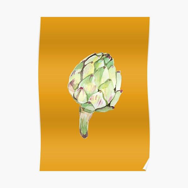 Artichoke head Poster