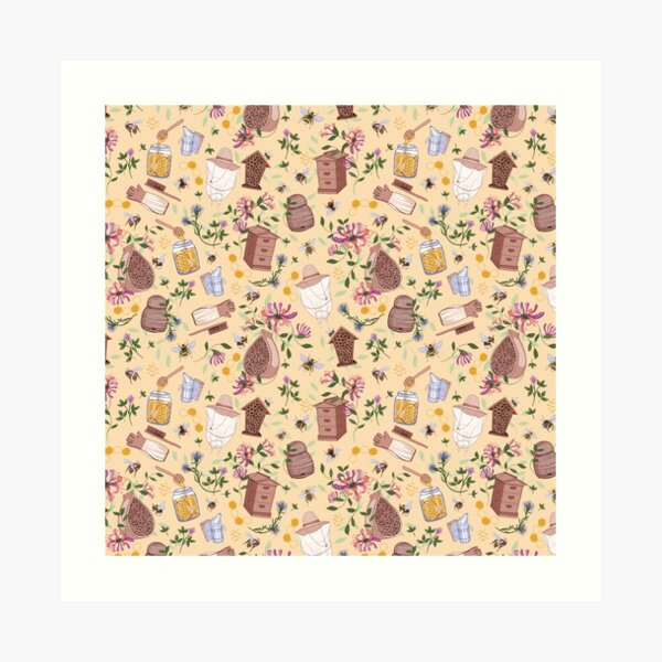 Bee Keeper Pattern Art Print