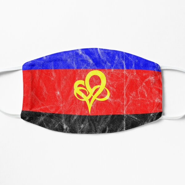 Polyfidelity Vintage Poly Pride Flag Infinity Heart Flat Mask