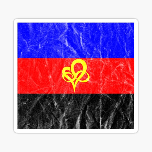 Polyfidelity Vintage Poly Pride Flag Infinity Heart Sticker