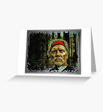 Canyon Man Of The Wild West Greeting Card