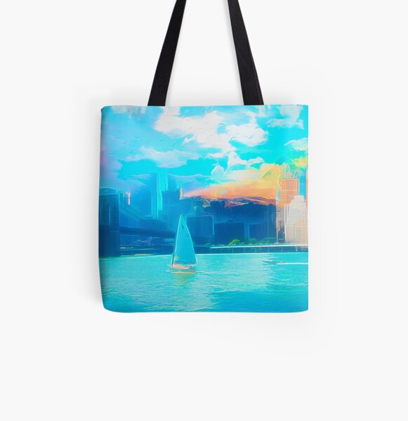Skyline Mix Allover-Print Tote Bag