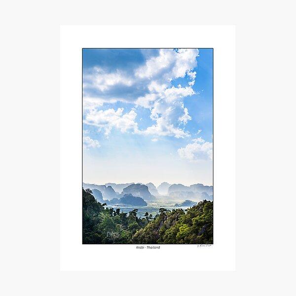 Typical karst rocks of the Krabi area, Thailand. Photographic Print