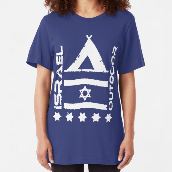 Israel Outdoor weiß Slim Fit T-Shirt