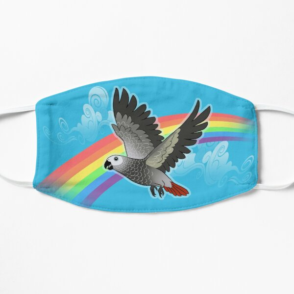 Rainbow bridge african grey parrot Mask