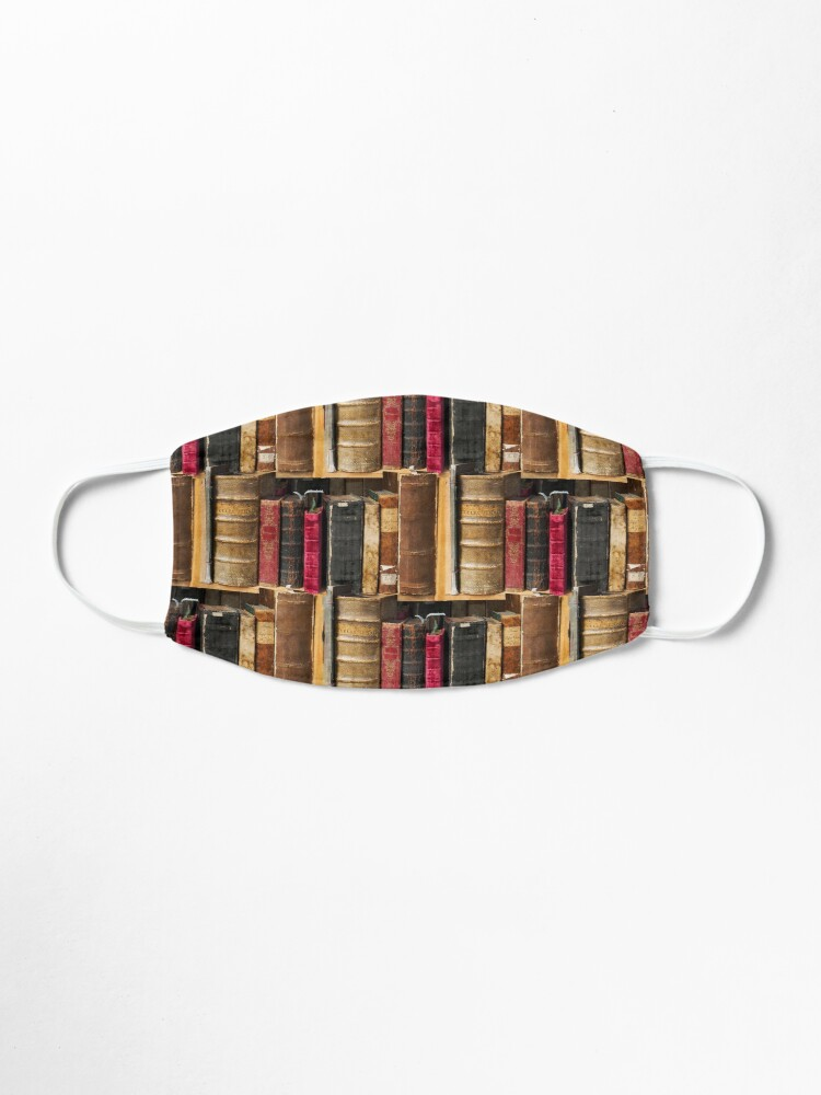 Alternate view of Bookworm Vintage books in bookshelf Mask