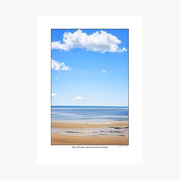 Waterside Beach UNESCO Fundy Biosphere Reserve, New Brunswick, Canada Photographic Print