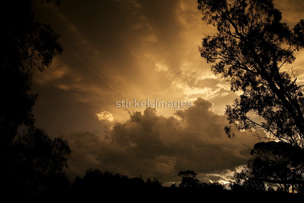 skyscapes #66, copper sky by stickelsimages