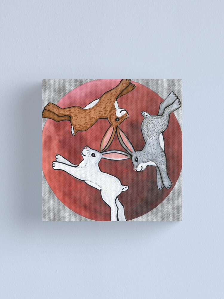 Alternate view of Three Hares Canvas Print
