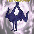 Gymnastic Acrobat Silhouette by DarkRubyMoon