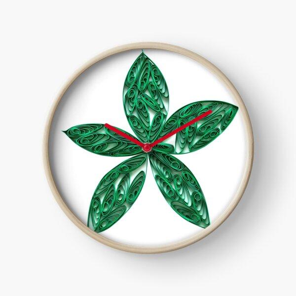 Green Leaves Clock