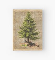 Kiefer, Cedar Tree, Wald, Natur-Wörterbuch-Kunst, Weihnachtsbaum Notizbuch