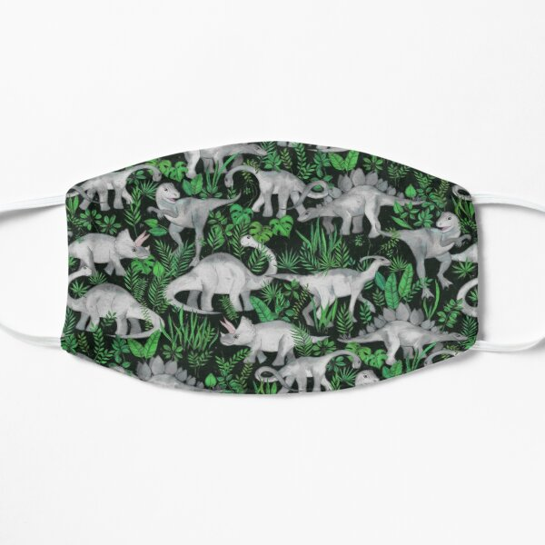 Dinosaur Jungle Flat Mask