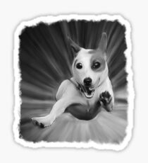 Dog Oil Painting Sticker