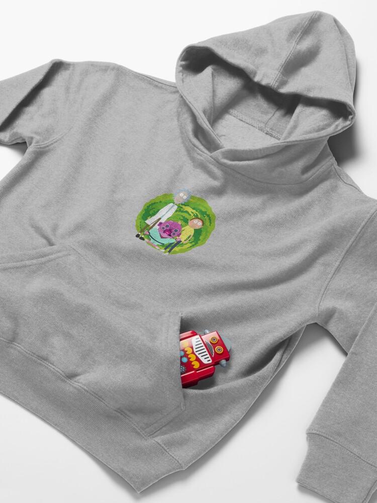 Alternate view of Glootie, Rick & Morty Kids Pullover Hoodie