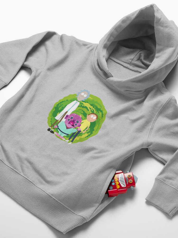Alternate view of Glootie, Rick & Morty Toddler Pullover Hoodie