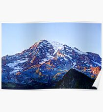 Alpine Glow on Rainier Poster