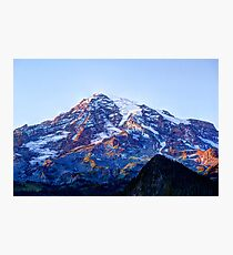 Alpine Glow on Rainier Photographic Print