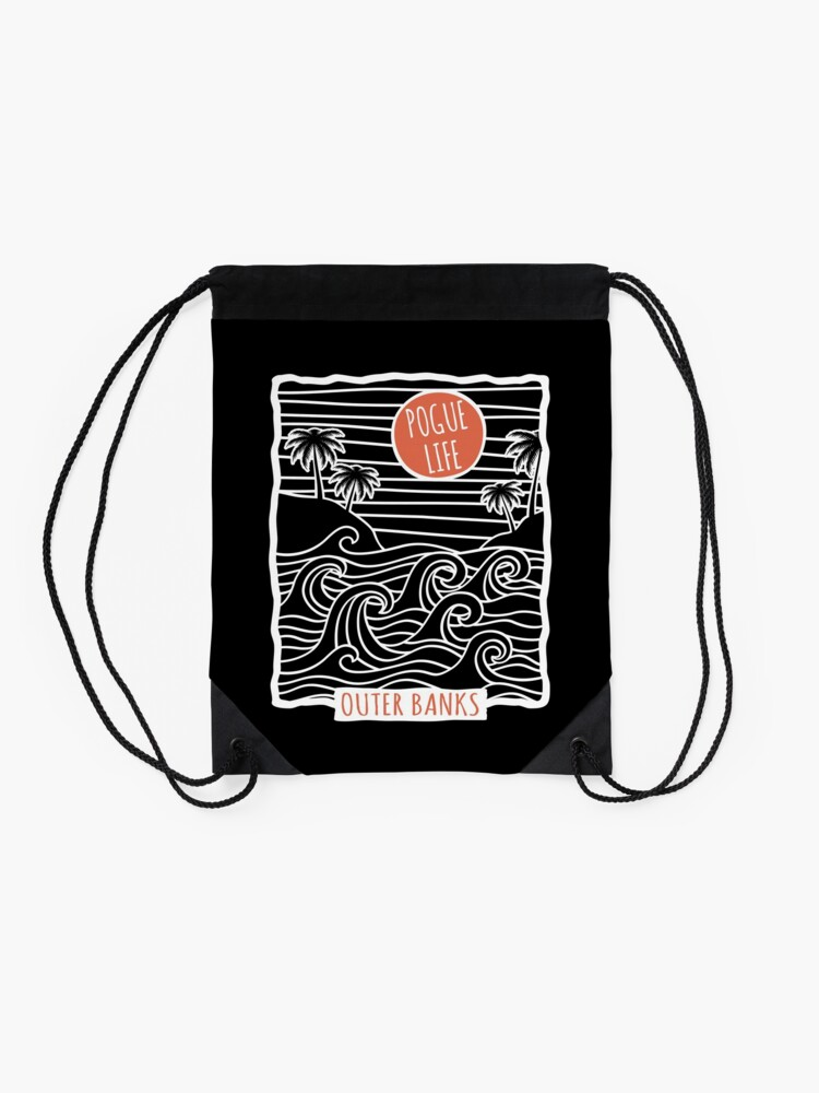 Alternate view of Pogue Life Outer Banks OBX Drawstring Bag