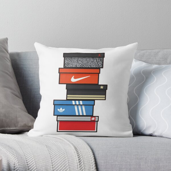 sneaker box Throw Pillow