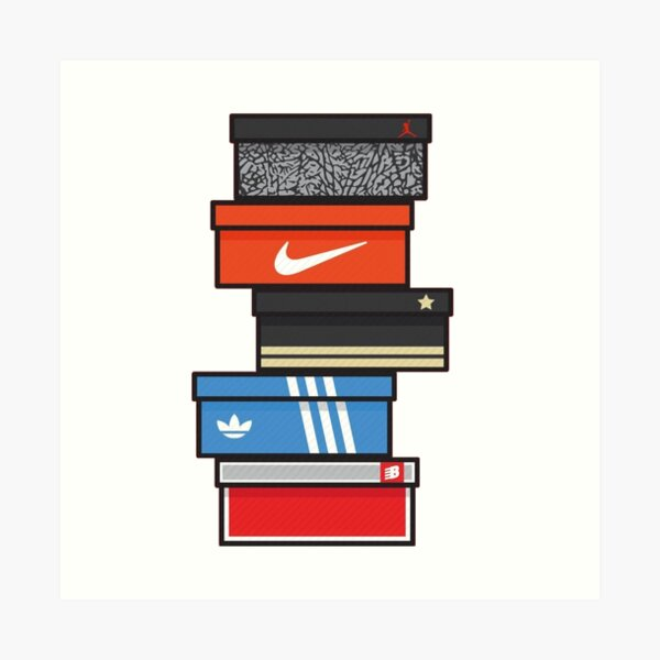 sneaker box Art Print