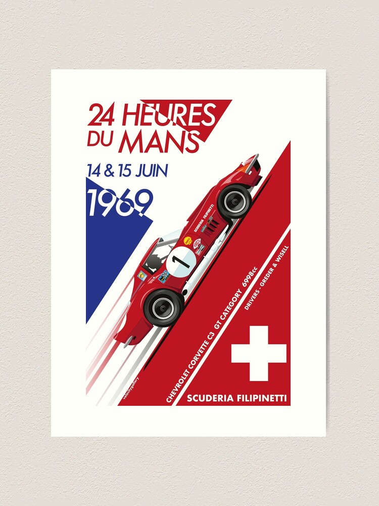 Alternate view of Le Mans 24 Hour 1969 Number 1 Art Print