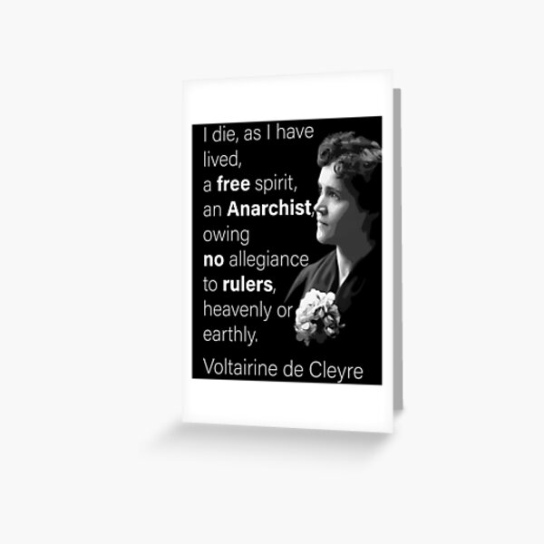 voltairine de cleyre Quote Greeting Card