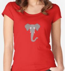 Elephant head Women's Fitted Scoop T-Shirt