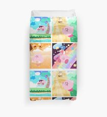 Kirby's Adventure - All 8 Levels Duvet Cover