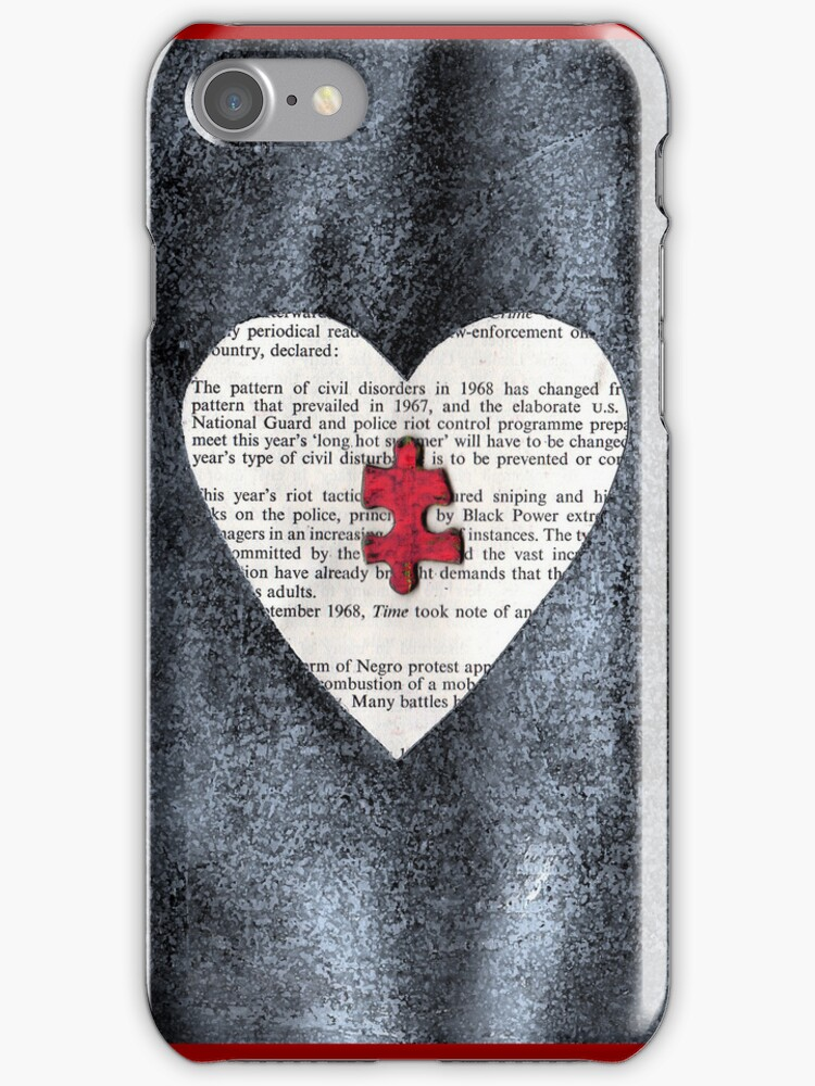 BlackHearted iPhone Case by zoe trap