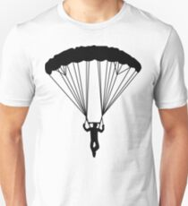 skydiver silhouette Unisex T-Shirt