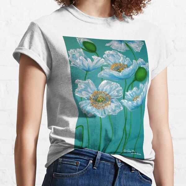 White Poppies Classic T-Shirt