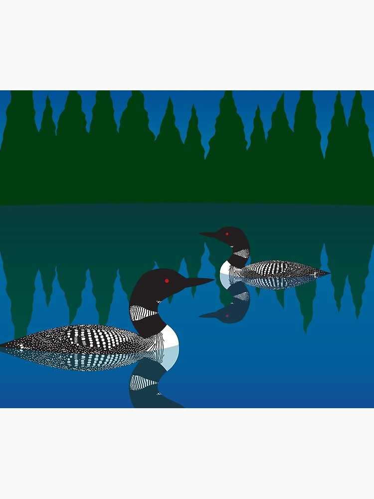 Loons on a Woodland Lake by WildBunch1