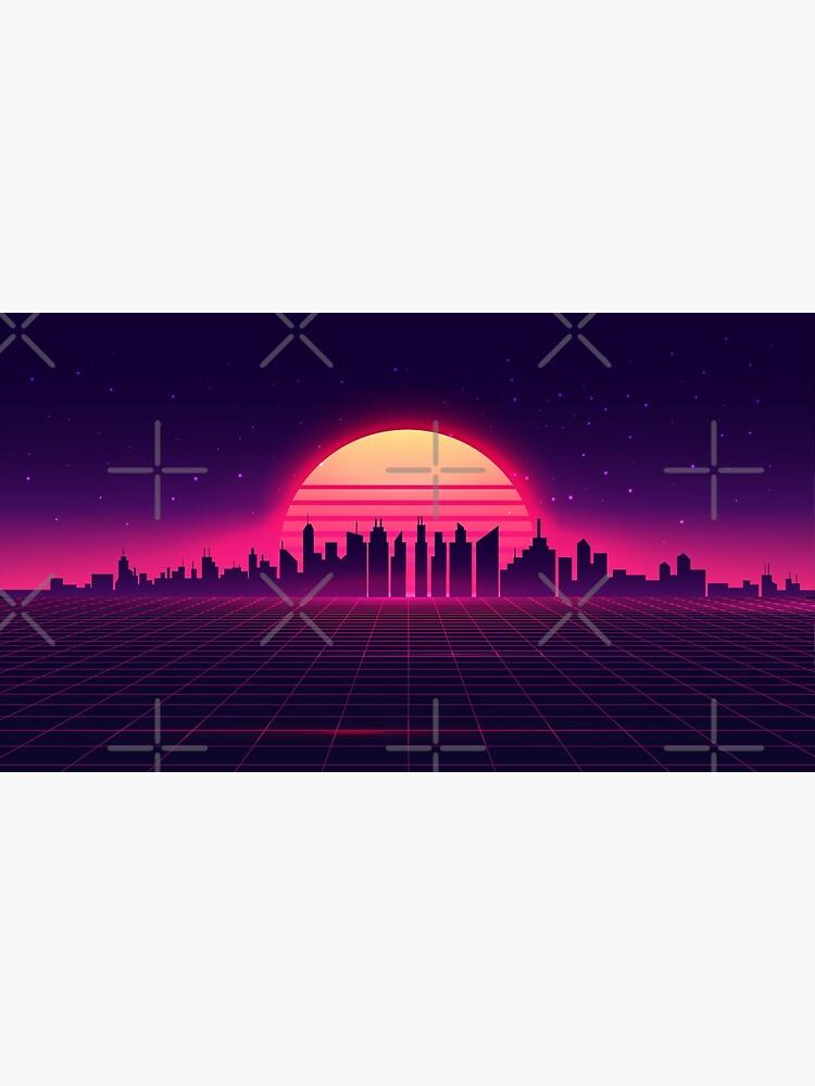 Retro Vaporwave City Skyline by anziehend
