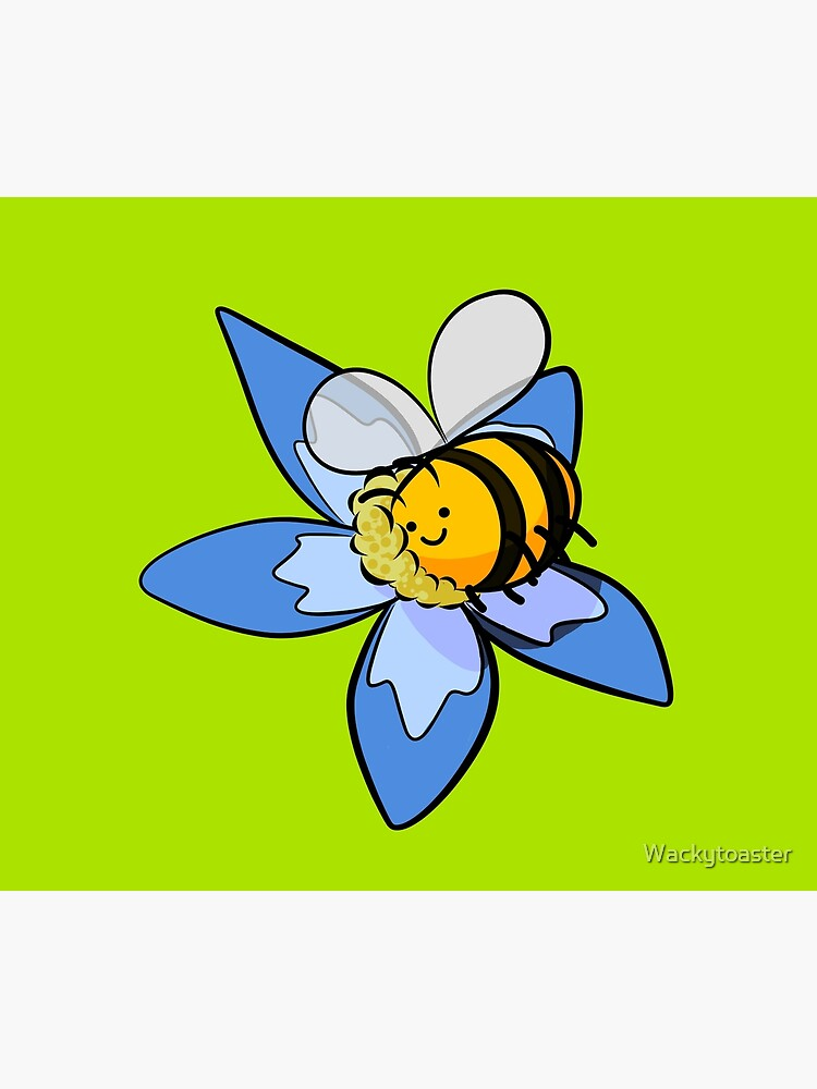 Cheerful bee pollinating flower by Wackytoaster