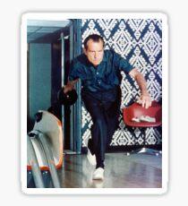 Richard Nixon Bowling Sticker