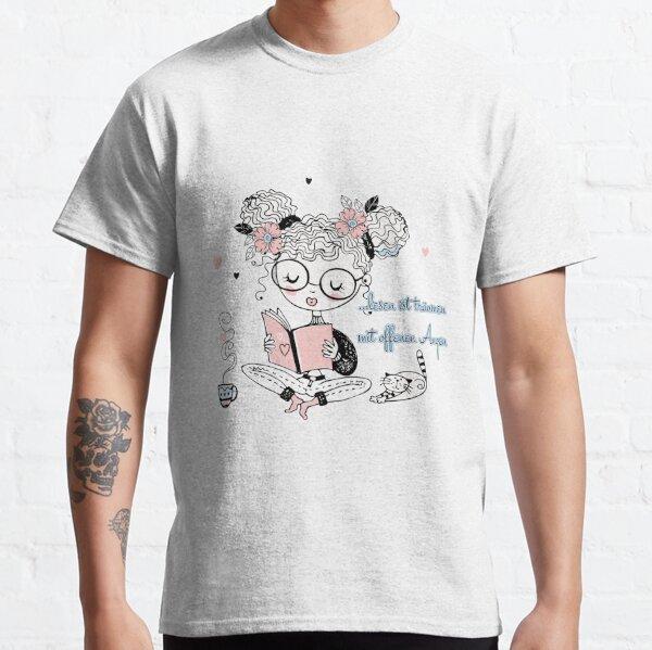Lesen ist träumen mit offenen Augen - brainbubbles Classic T-Shirt