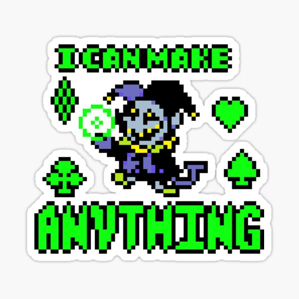 I Can Make Anything in Manyland by Azsriel Sticker