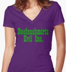 Doofenshmirtz Evil Inc. - GREEN Women's Fitted V-Neck T-Shirt
