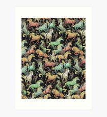 Ninjas+Unicorns Art Print