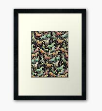Ninjas+Unicorns Framed Print