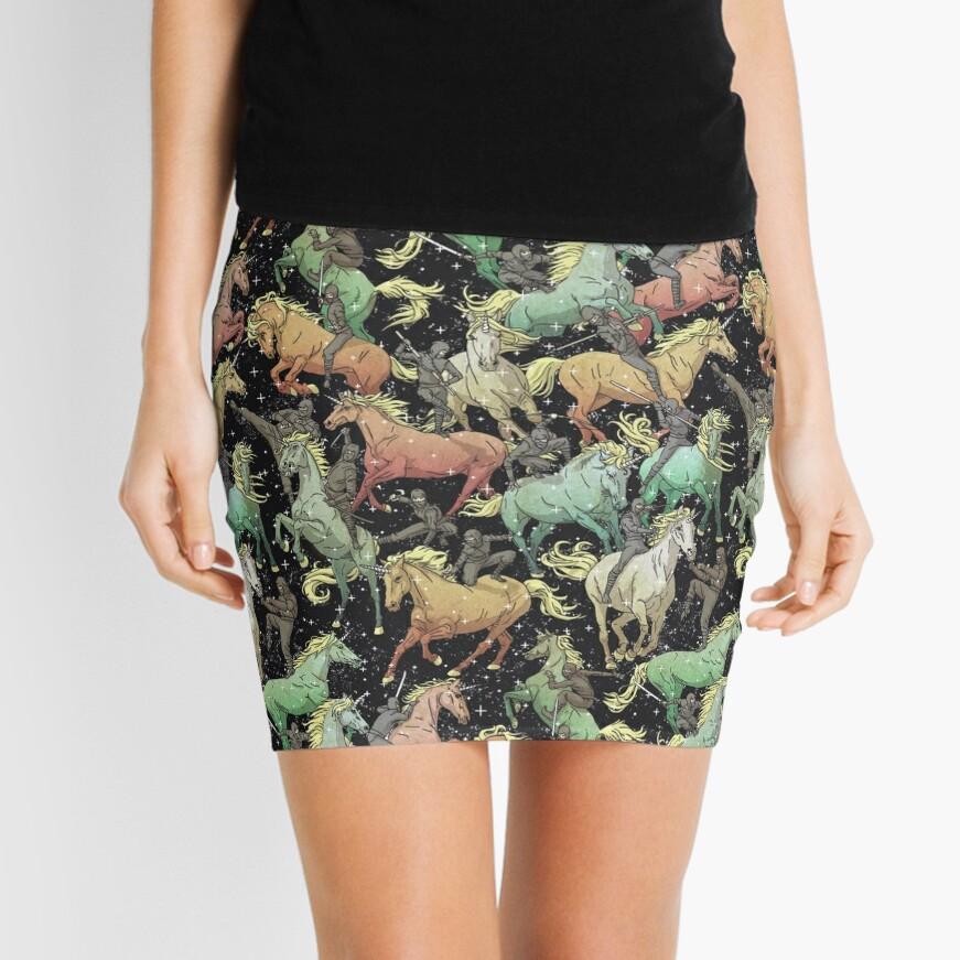 Ninjas+Unicorns Mini Skirt