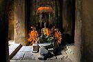 Inside Bayon Temple, Cambodia by Michael Treloar
