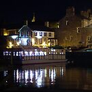 Floating Restaurant and Pub at the Rear by Night by AnnDixon