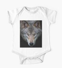 """""""All the better to see with, my child"""" Timber Wolf One Piece - Short Sleeve"""