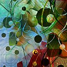 Digital Abstract Art-Dynamic Shapes And Lines by artonwear