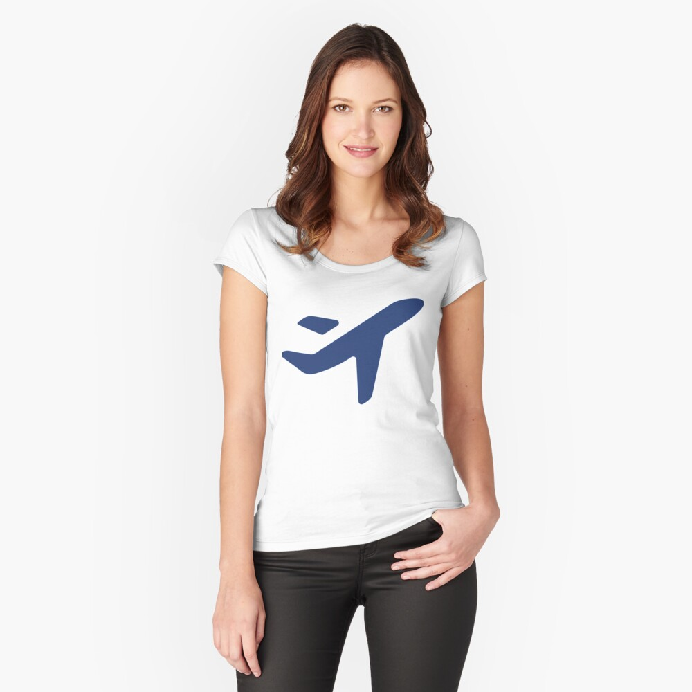 Jess.Travel Plane solo logo Fitted Scoop T-Shirt